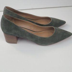 New Crown Vintage Juryan Block Suede Heels, SZ 8.5